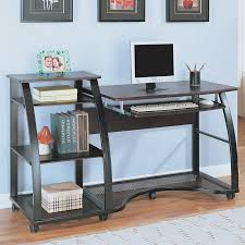 excellent minimalist computer desk with white baseboard and wooden flooring also wall frames for modern home office design black desks for home office