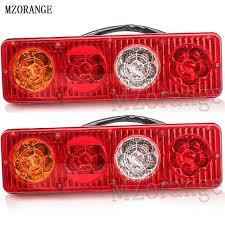 mzorange car led rear bumper reflector brake light for citroen c4l bar warning lights tail stop lamp without bulbs