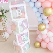 <b>QIFU Transparent</b> Box Wedding Decor Baby Shower Boy Girl Event ...