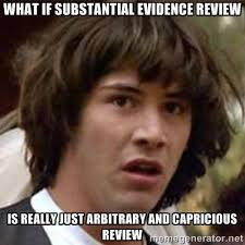 What if substantial evidence review is really just arbitrary and ... via Relatably.com