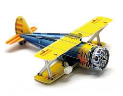 Заводной <b>3D пазл</b> самолет Classic Fighter