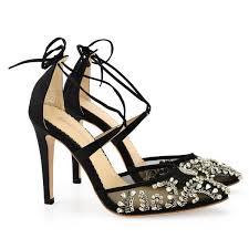<b>Sexy Embellished Black</b> Evening Shoes