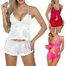 <b>2019</b> 的 <b>Sexy</b> Sleepwear <b>Women</b> Lace Satin Pijama Sets <b>Summer</b> ...