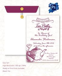 farewell party invitation template s 22 tea party invitation templates