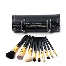 Wholesale <b>9pcs</b> Black Portable <b>Travel Cosmetic Brush</b> Kit Makeup ...