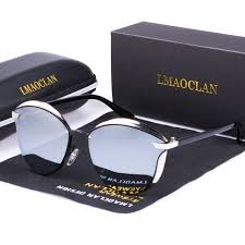LMAOCLAN Women Polarized Sunglasses Luxury <b>Fashion Cat Eye</b> ...