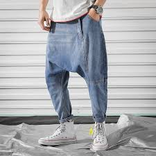 <b>Men's</b> Clothing <b>Mens Casual Loose Fit</b> Dropped Crotch Pants Loose ...