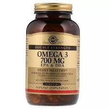 <b>Solgar</b>, <b>Omega</b>-<b>3</b>, EPA & DHA, Double Strength, <b>700</b> mg, 120 Softgels