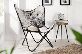 Casa Padrino <b>real</b> fur designer <b>armchair Black</b> / White - Relax ...