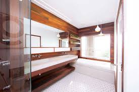 dwell bathroom cabinet:  modern bathroom renovations dwell wood lined renovation with