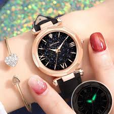 <b>Diamond Starry Night</b> Light Gift Table <b>Ladies</b> Watch | Shopee ...