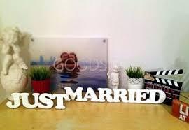 Таблички <b>Декоративные слова Just</b> Married - купить в Брянске по ...