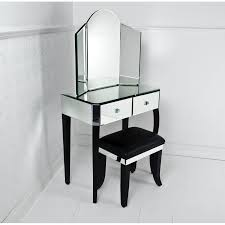 black vanity set home decor waplag furniture inspiration elegant corner mirrored dressing tables tri fold mirror architectural mirrored furniture design ideas wood