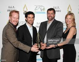 inaugural s e t awards photos and images getty images actor dan donohue l actress anna gunn r and executive producers