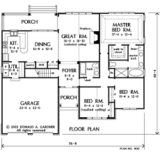 House Plan The Dewfield by Donald A  Gardner ArchitectsFloor Plans  FIRST  first f