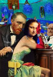 <b>mona Lisa</b> and van gogh. <b>collage</b> by Barry kite   Classic paintings ...