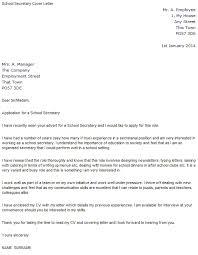 resume for school secretary cover letter template for school cover letter for a secretary position