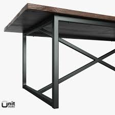 hardware dining table exclusive:  salvaged boatwood rectangular table by restoration hardware d model max obj ds fbx dwg pts