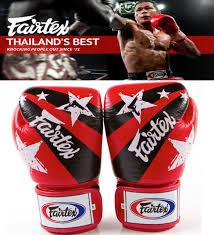 Authentic Fairtex Nations Print <b>Muay Thai</b> Sparring Gloves <b>RED</b> ...