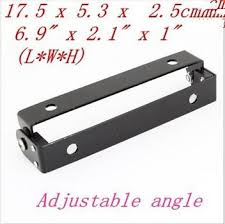 <b>Motorcycle</b> Automobile <b>Adjustable</b> Angle <b>Black</b> Metal License Plate ...