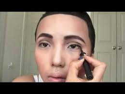 asian transforms herself into drake by simply using make up