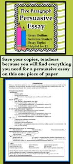 best images about persuasion teaching lesson a one pager that contains everything even esl support for a persuasive essay