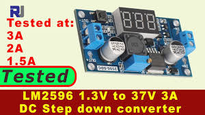 <b>LM2596 DC</b> to <b>DC 3A Buck</b> Converter with LED display tested ...