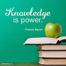 knowledge is not power knowledge is only potential power action knowledge is power