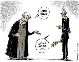 Risultati immagini per usa  iran cartoon great satan