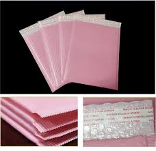 <b>10pcs 4 sizes</b> Pink Poly <b>bubble</b> Mailer envelopes padded Mailing ...