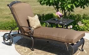 comfortable patio chairs aluminum chair:  the amalia collection cast aluminum single chaise patio furniture lounge