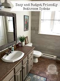 bathroom refresh: easy bathroom update with mmsmilkpaint front porch mercantile iheartmilkpaint mmsmilkpaint