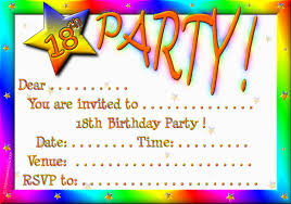 th birthday party invitations com 18th birthday party invitations as beauteous party invitation template designs for you 1711201613