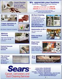 sears carpet upholstery air duct cleaning comox valley sears courtenay cleaning services
