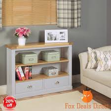 baumhaus bookcase chadwick grey collection low wide 2 drawer assembled furniture baumhaus hidden home office 2 door cabinet