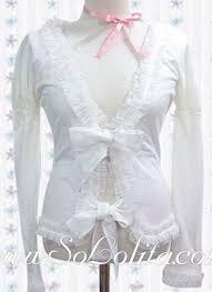 Lolita Pure White Bow Tie Pleated Boeder Cotton Blouse | Blouses ...
