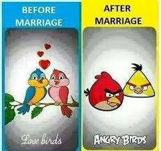 <b>Haha</b> true | <b>Before</b> and after marriage, After marriage, Marriage jokes