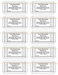 sample raffle ticket template best images of printable it