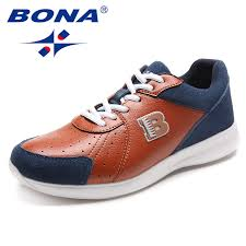 <b>BONA New Classics Style</b> Men Running Shoes Lace Up Men Sport ...