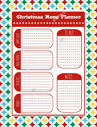 menu planner templates sample example format christmas menu planner vector format template