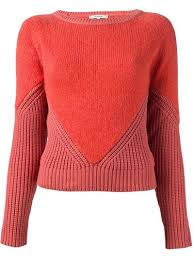 CARVEN Contrast Knit Sweater ~ Lovely Inspiration ~ I love this kind ...