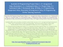 Assignment Help Australia   LinkedIn Australia C  Programming Project Help C  C   Assignment Help