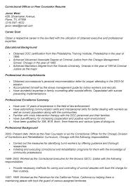 corrections officer resume   sales   officer   lewesmrsample resume  sle of correctional officer or peer