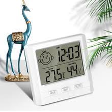 1pcs <b>LCD Electronic</b> Digital Thermometer Hygrometer Smile Face ...