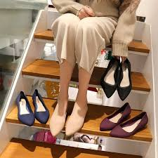 Fashionable and <b>generous slope</b> heel leather shoes, women's ...