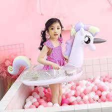 New <b>70cm</b> Sequins Unicorn <b>baby</b> pool Float <b>inflatable</b> flamingo ...
