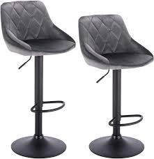 Velvet <b>bar stools 2pcs</b> set - model Anton