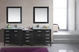 under vanity lighting deluxe black wooden double sink vanity cabinet with square wall mirror frames and bathroom vanity lighting ideas combined