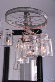 vintage pulley chandelier build diy mason jar chandelier
