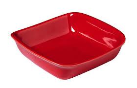 Керамическая <b>форма для запекания</b> Supreme, <b>квадратная</b>, красная